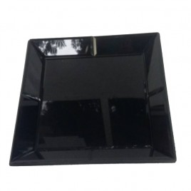 Square Black mirror tray