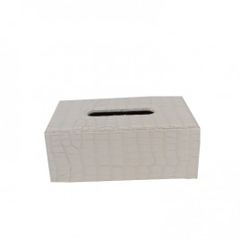 White leather tissue Box