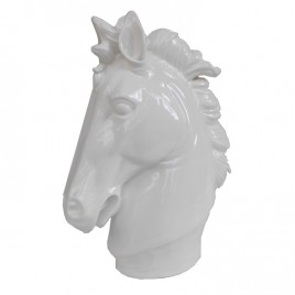 White Ceramic Horse Head