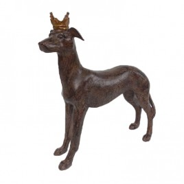 Dog w/ Crown Ornament