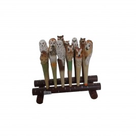 Sapari Balsa Wooden Pen w/Stand