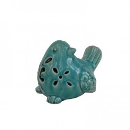 Blue Ceramic Bird w/ LED light (Large)