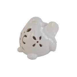 White Ceramic Bird w/ LED light (Large)
