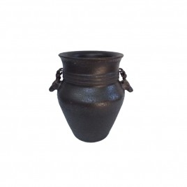 Black Pottery Planter
