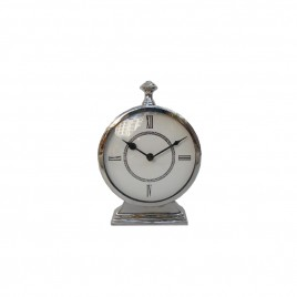 Bond Street Nickel Desk Clock