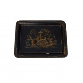 Hand Painted Chinoiserie Tole Tray