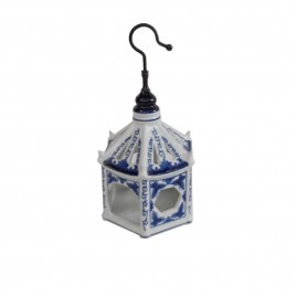 Chinese Blue & White Porcelain Bird Cage