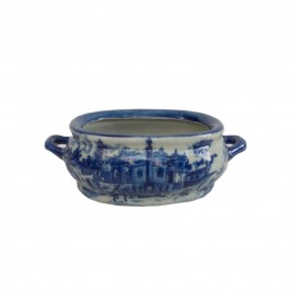 Chinese Blue & White Porcelain Planter (M)