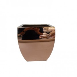 Metal Planter in Rose Gold (Small)