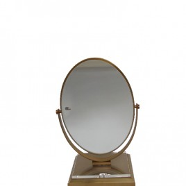 Vanity miror with golden base