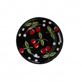Black Cherry Ceramic Plate (S)