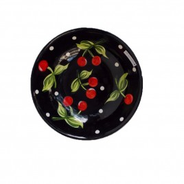 Black Cherry Ceramic Plate (L)