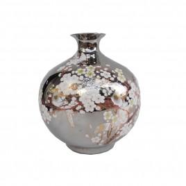Cherry Blossom Silver Ceramic Vase (S)