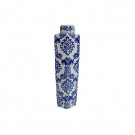 Blue & White Porcelain Lidded Canister