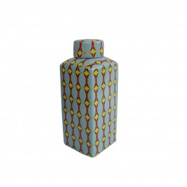 Pattern Canister w/lidded (M)