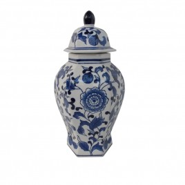 Floral Chinese Ginger Jar w/ Lid
