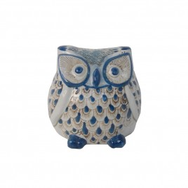 Blue & White Porcelain Owl