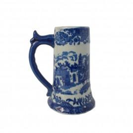 Blue & White Porcelain Beer Mug