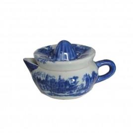 Blue & White Porcelain Lemon Squeezer