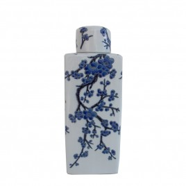 Chinese Blue & White Large Canister