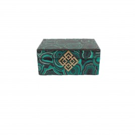 Agate Glass Jewelly Box (L)