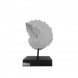 Sand Stone Nautilus w/ Metal Stand