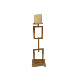 Golden Rectangular Candle Base (L)