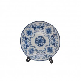 Blue & White Ceramic Plate