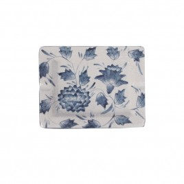 Floral Chinese Blue and White Ashtray