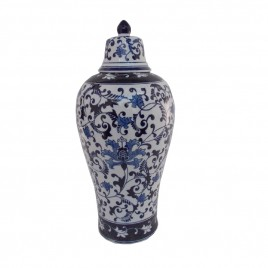 Floral Chinese Ginger Jar w/ Lid (S)