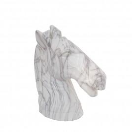 Marble Finish Horse Head (L)
