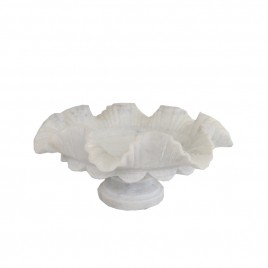 Flower Shape Carved Marble Bowl