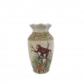 Ceramic Monkey Vase