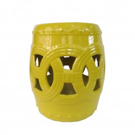 Ceramic Garden Stool (Yellow)