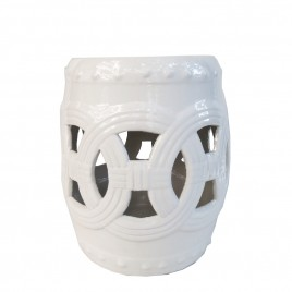 Ceramic Garden Stool (White)