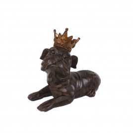 Antique Farmhouse Bulldog with Crown