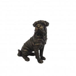 Brass Seated Bulldog