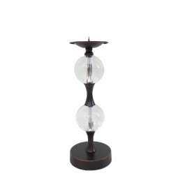 Candle Holder with Glass Ball (S)