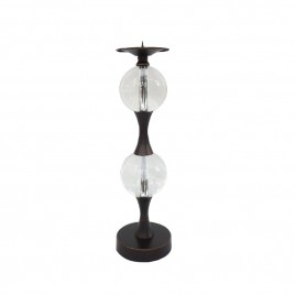 Candle Holder with Glass Ball (L)