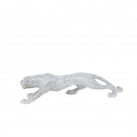 Silver Leaping Leopard