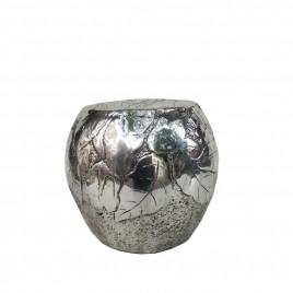 Silver Resin Round Stool
