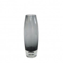 Decorative Grey Glass Vase