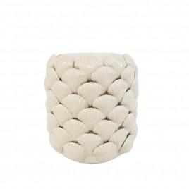 White Shell Ceramic Vase (S)