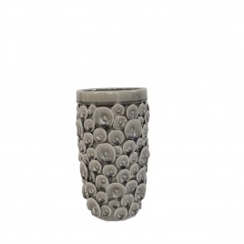Grey Oyster Shell Ceramic Vase (S)