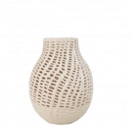 White Mesh Ceramic Vase (L)