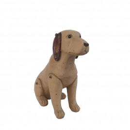 Seated Labrador Resin Dog