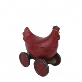 Red Chick Container w/ Wheels