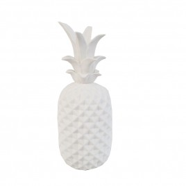 White Pineapple Ceramic Ornament (L)