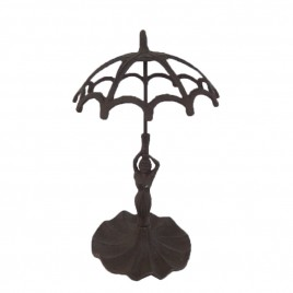 Cast Iron Art Deco Umbrella Stand