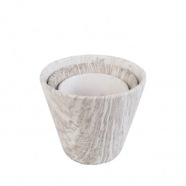 Plant Pot Printed Marble Pattern(3 pcs)